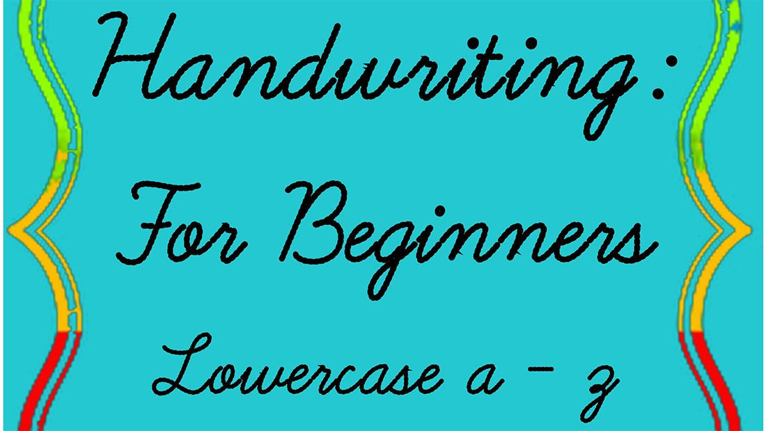 Workbook: Revisit cursive class (© Hannah Mitrea Little Saturday School Creation)