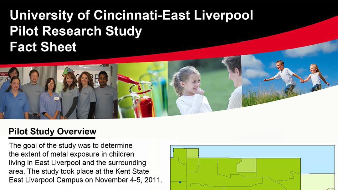 Document: University of Cincinnati/East Liverpool Pilot Research Study Fact Sheet