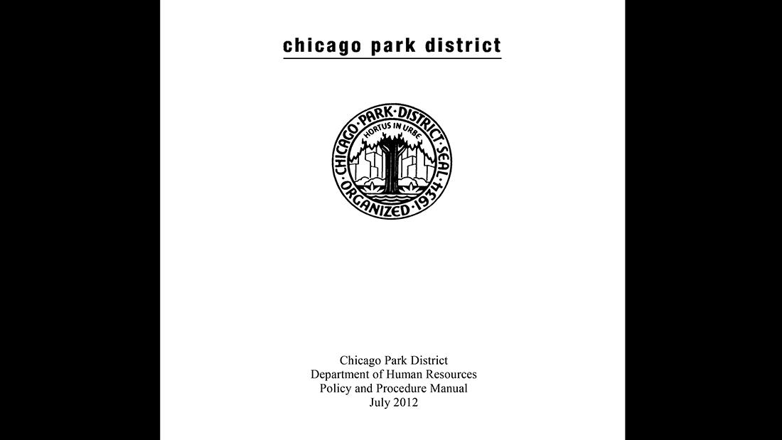 Document: Chicago Park District Department of Human Resources Policy and Procedure Manual