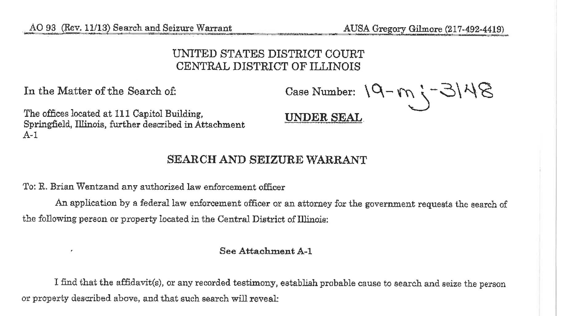 Document: Read the search warrant.