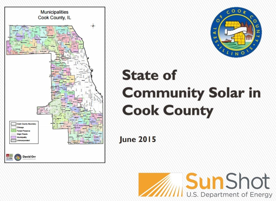 (State of Community Solar in Cook County)