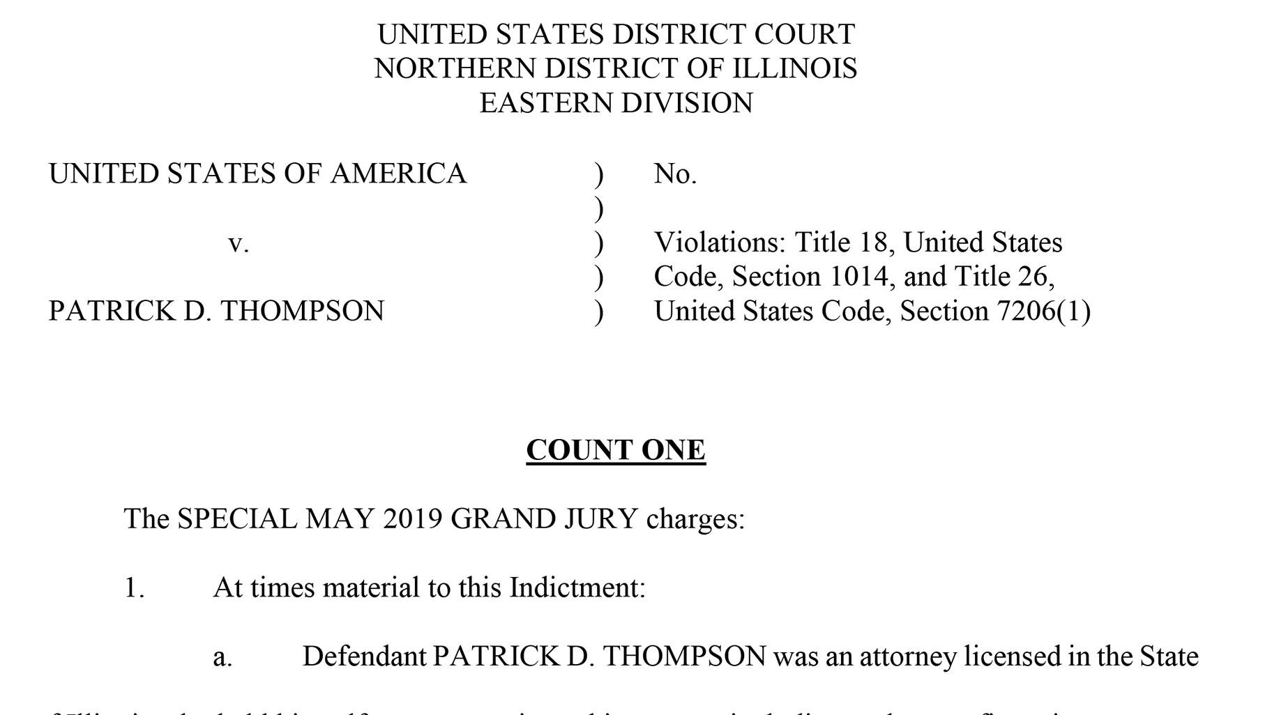 Document: Read the indictment