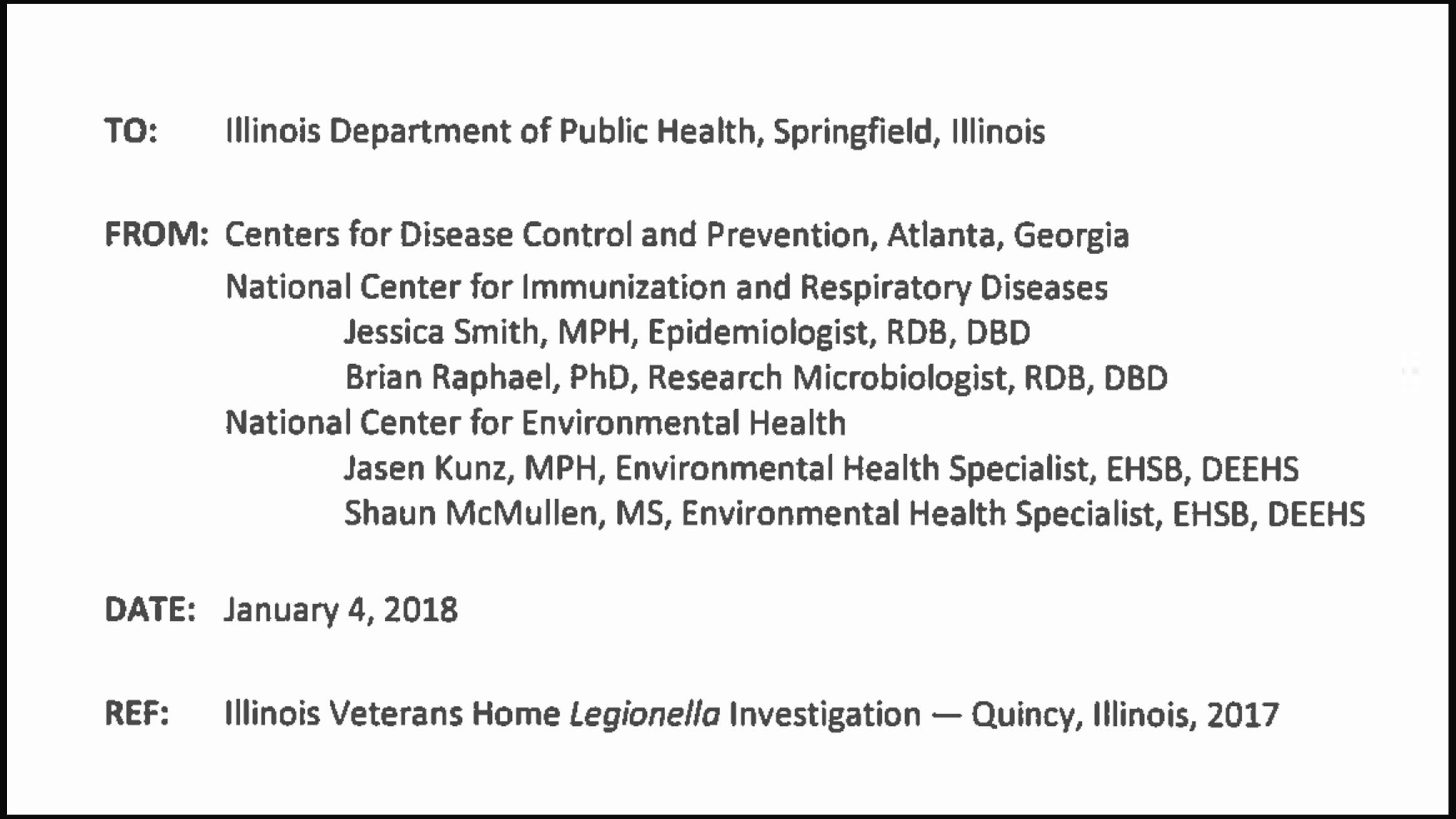 Document: Read the CDC report