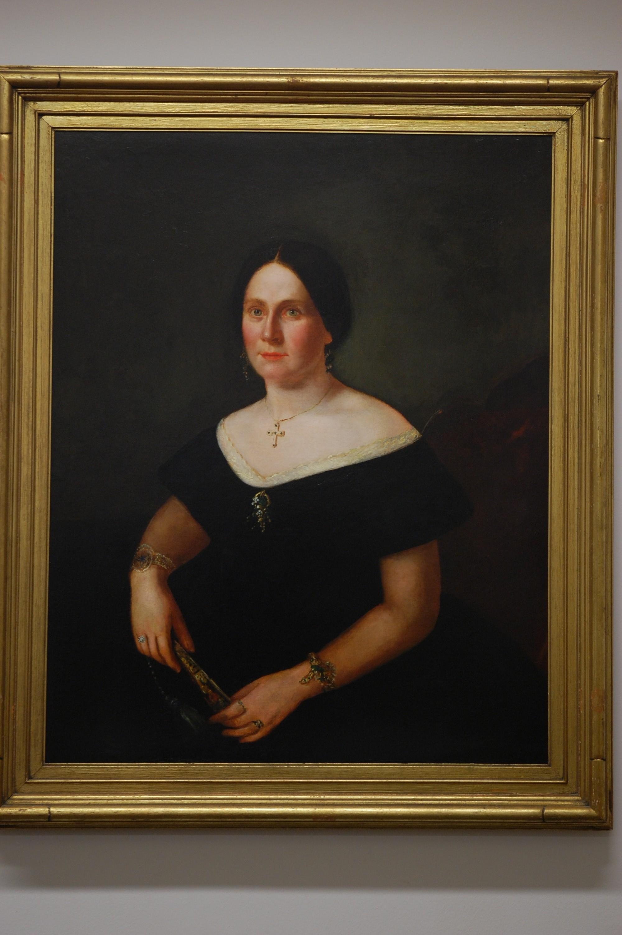 Restored image of the portrait once thought to be of Mary Todd Lincoln