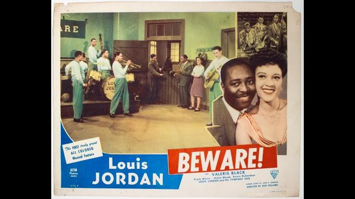 "Louis Jordan – ""Beware"" movie poster"