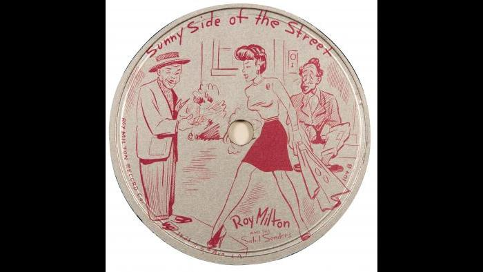 """Roy Milton - 78 Record Label – """"Sunny Side Of the Street"""""""