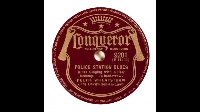"Peetie Wheatstraw - 78 Record Label – ""Police Station Blues"""