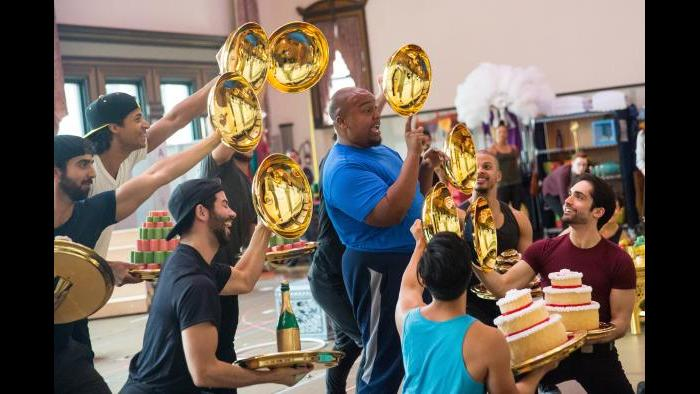"Anthony Murphy in rehearsal for ""Aladdin."" (Justin Barbin / Broadway in Chicago)"