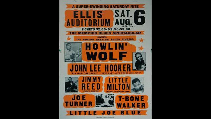Ellis Auditorium - 1960s Music Poster