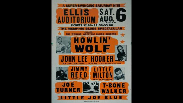 Ellis Auditorium - 1960s Music Poster