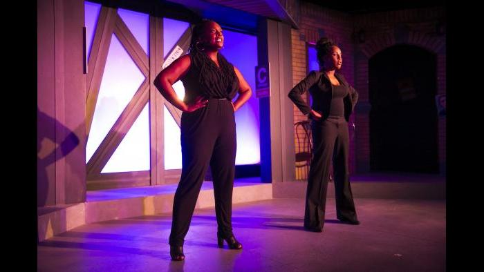 From left: Aasia Lashay Bullock and Lisa Beasley. (Todd Rosenberg / The Second City)