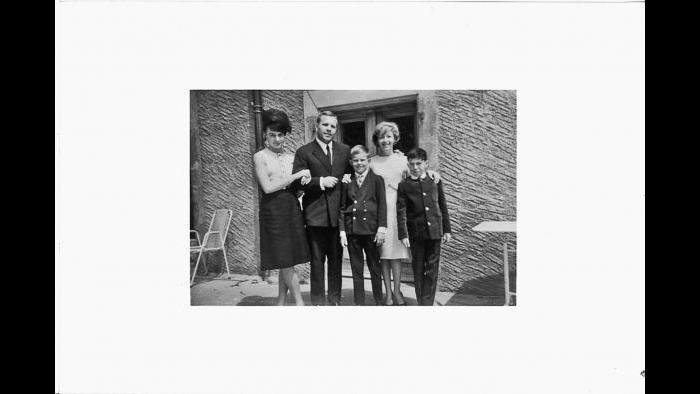 Diane, Hans, Martin, Lily and Philippe in Geneva, summer 1963. (Courtesy of Martin Muller)