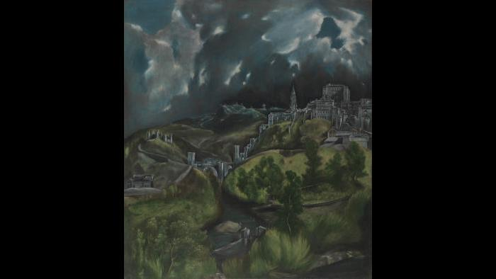 """El Greco (Domenikos Theotokopoulos). """"View of Toledo,"""" about 1598–99. The Metropolitan Museum of Art, New York, H. O. Havemeyer Collection, Bequest of Mrs. H. O. Havemeyer, 1929."""