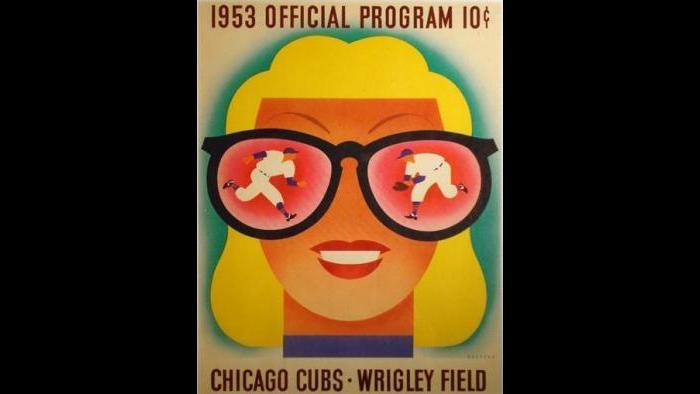 Dorothy and Otis Shephard, Cubs Scorecard, 1953. (Courtesy of the Terra Foundation for American Art)