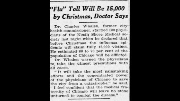 Oct. 2, 1918: Chicago Tribune archives.