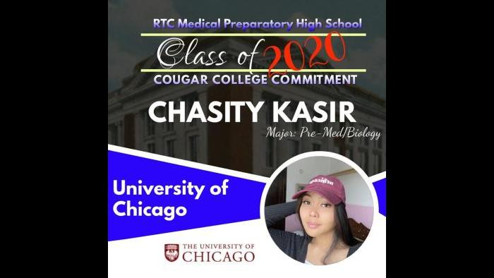Chasity Kasir (Richard T. Crane Medical Preparatory High School / Facebook)