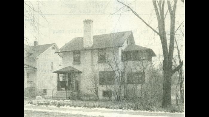 Winnetka house on Spruce Street in 1956; David James bought it in 1967.