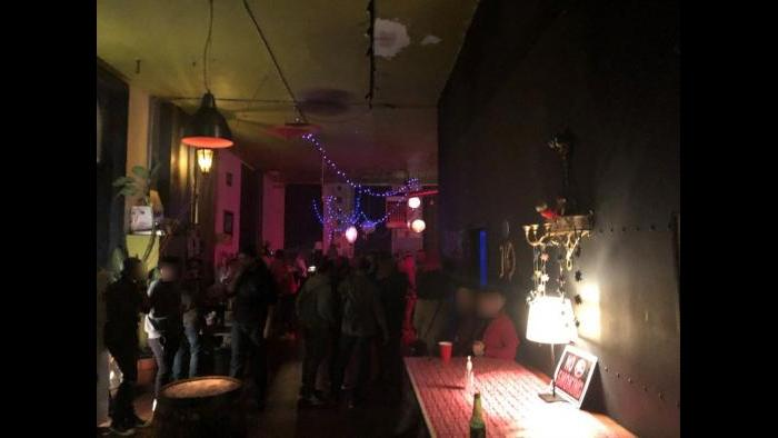 Another large party at 107 W. Hubbard St. was shut down, according to city officials. (Courtesy of City of Chicago)