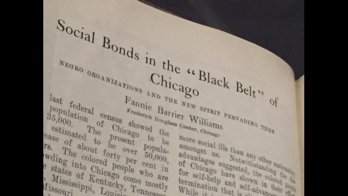 """""""Social Bonds in the 'Black Belt' of Chicago,"""" a chapter from a history book about African-Americans in Chicago."""