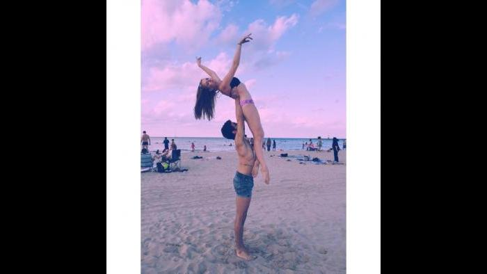 New Jersey-born Joffrey dancer Camila Ferrera at Montrose Avenue beach. (Courtesy Ferrera's Facebook page)