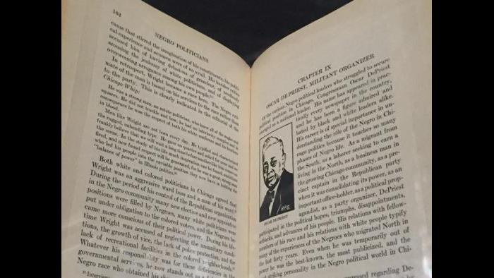 """The section """"Negro Politicians"""" from a book about Chicago African-Americans."""