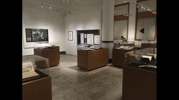The exhibition space for Civil War to Civil Rights: African-American Chicago in the Newberry Collection.