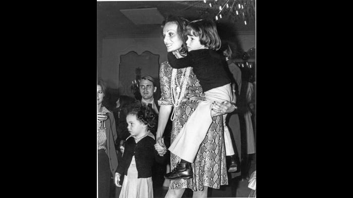 Tatiana and Alexandre attend mom's fashion show at the Pierre Hotel in New York, 1974. (Photo by Ann Phillips, courtesy of Diane von Furstenberg)