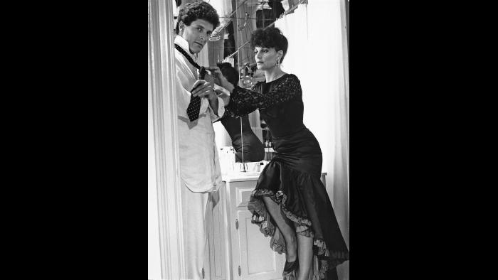 Getting ready for a night out with Alain. (Courtesy of Diane von Furstenberg)