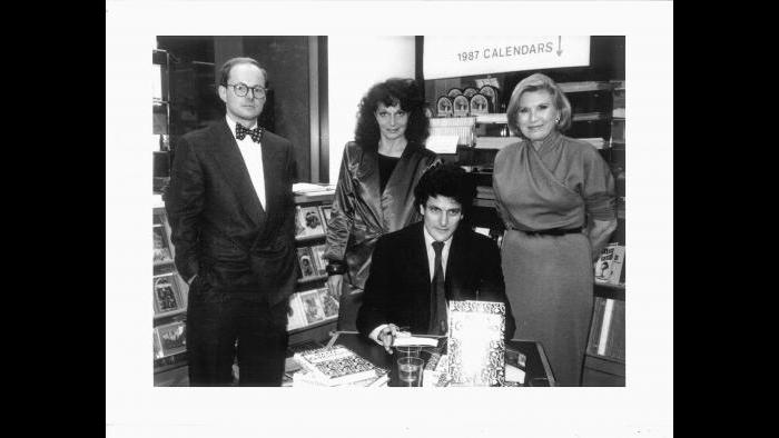 Martin Muller, Diane, Alain and Lois Lehrman, publisher of the Nob Hill Gazette, at a signing for Alain's book Piazza Carignano in San Francisco in 1986. (Courtesy of Martin Muller)