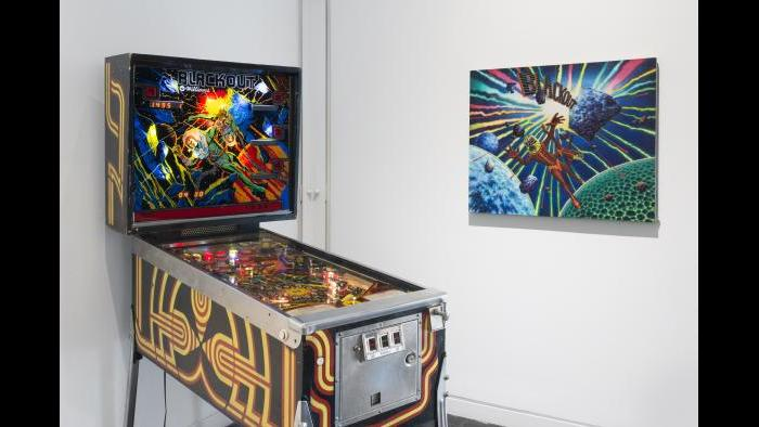 """From the exhibition """"Kings and Queens: Pinball, Imagists and Chicago."""" (James Prinz / Elmhurst Art Museum)"""