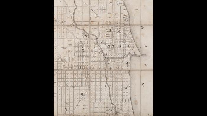 Chicago ward map: 1849