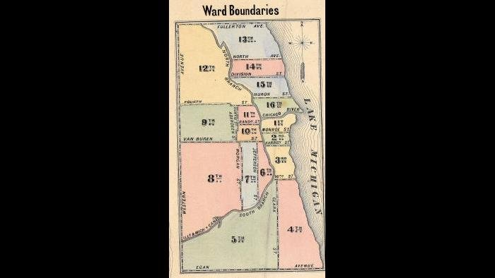 Chicago ward map: 1863