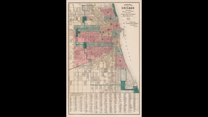 Chicago ward map: 1882