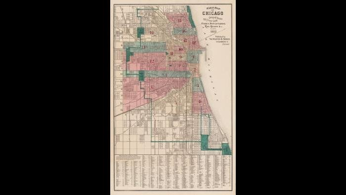 Chicago ward map: 1882