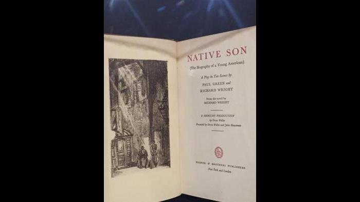 "An edition of the play ""Native Son"" based on Chicagoan Richard Wright's novel."