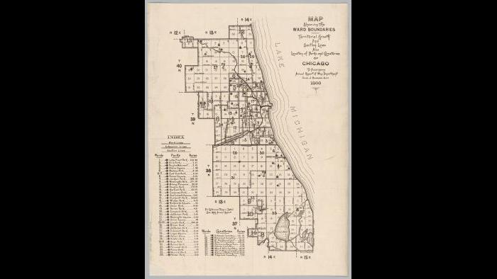 Chicago ward map: 1900