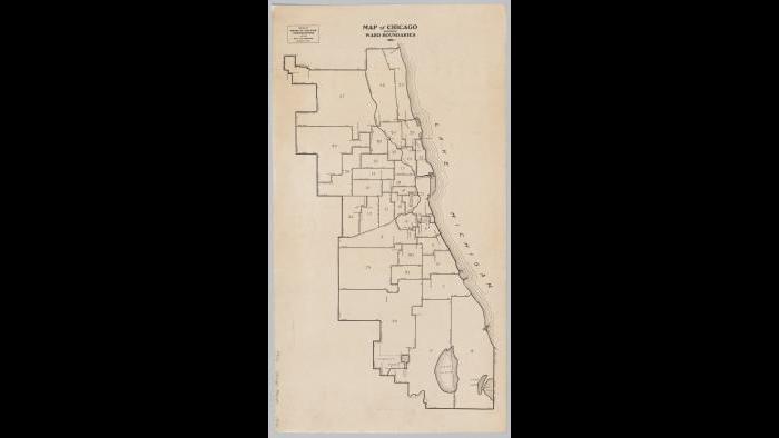 Chicago ward map: 1912