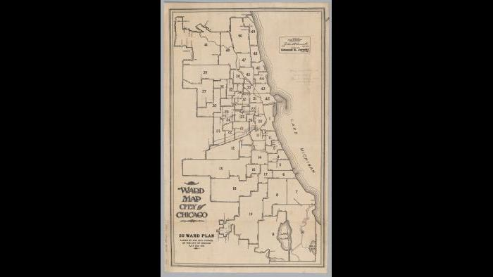Chicago ward map: 1921