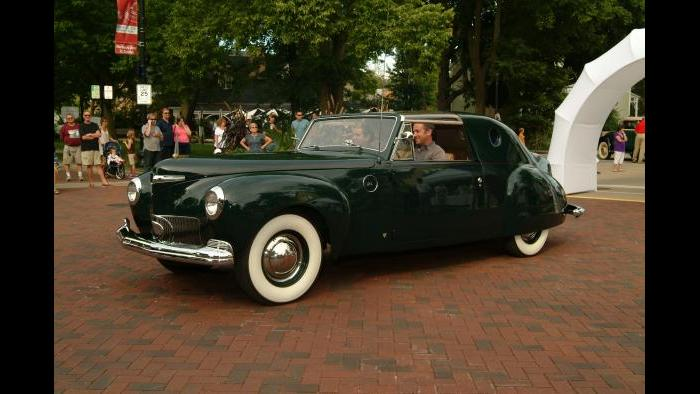 Chicago Vintage Motor Carriage's 1941 Lincoln Continental designed by Raymond Loewy at the Geneva Concours d'Elegance. (Credit: Bill Ficht)
