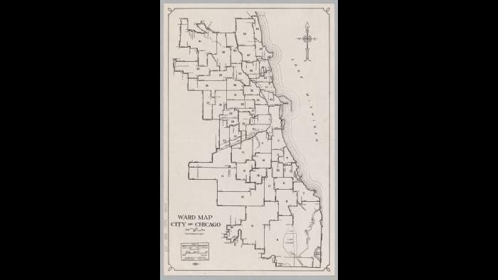Chicago ward map: 1947