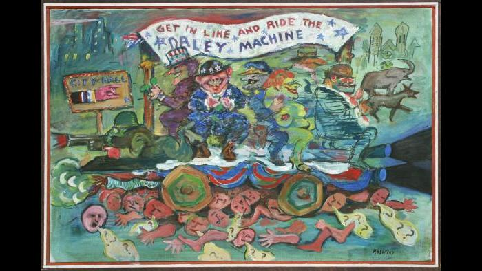 Seymour Rosofsky, 'Daley Machine,' 1968. (Courtesy of Corbett vs. Dempsey / Flickr.)