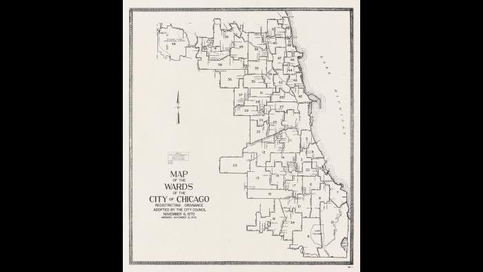 Chicago ward map: 1970