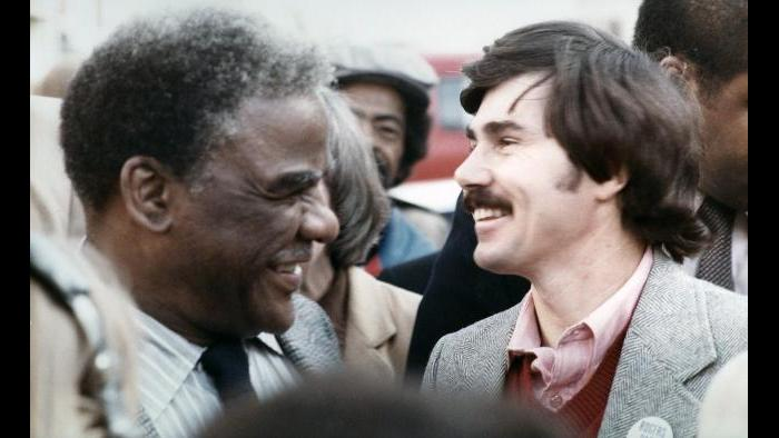 Harold Washington and David Orr, 1980 (Courtesy David Orr)