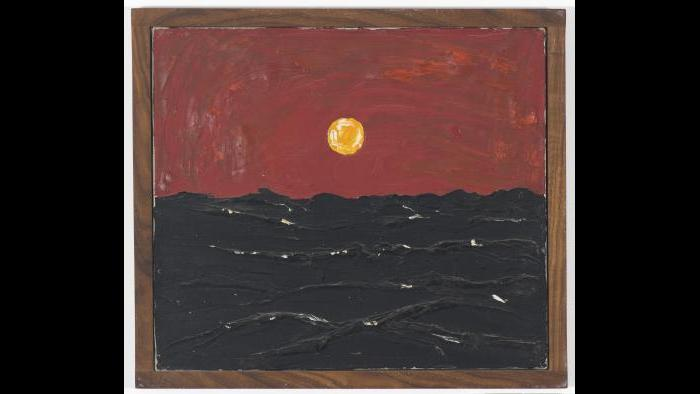 Forrest Bess, Seascape with Sun, 1947. (Courtesy of the Museum of Contemporary Art)