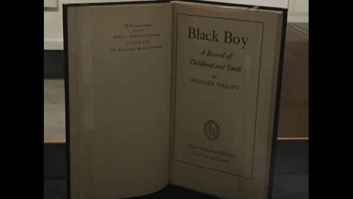 "A first edition of Richard Wright's memoir ""Black Boy."""