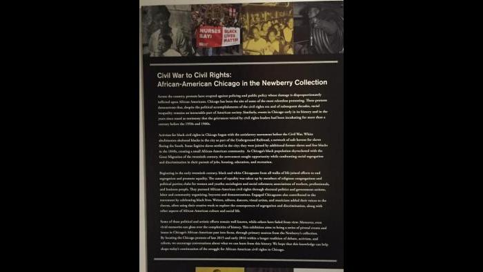 Civil War to Civil Rights : African-American Chicago in the Newberry Collection.