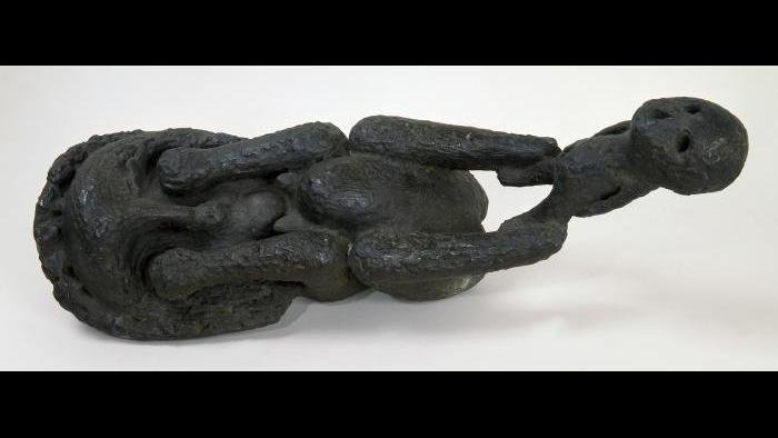 Cosmo Campoli, Birth of Death, 1950-1951, Cast bronze.  Smart Museum of Art, The University of Chicago, Gift of Joyce Turner Hilkovitch in memoriam of Jonathan B. Turner, 1991.357.