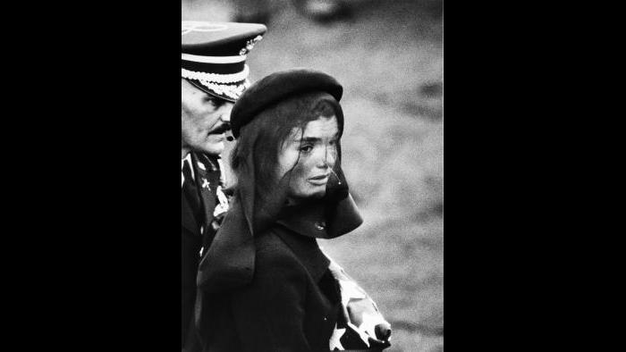 Elliott Erwitt, Jackie Kennedy at Funeral, 1963, portfolio 1980