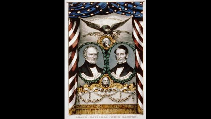 """Whig Campaign Poster 1852, """"Union For The Sake Of The Union,"""" Library of Congress"""