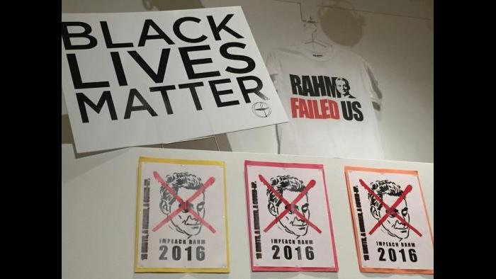The Black Lives Matter/ Laquan McDonald protests exhibit at the Newberry Library.